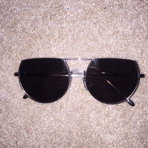 4012a55a1589 Petals   Peacocks  NEVERMIND  White Sunglasses. M 5c17bde9c89e1d84d70e7fcd.  Other Accessories you may like. half cut sunglasses